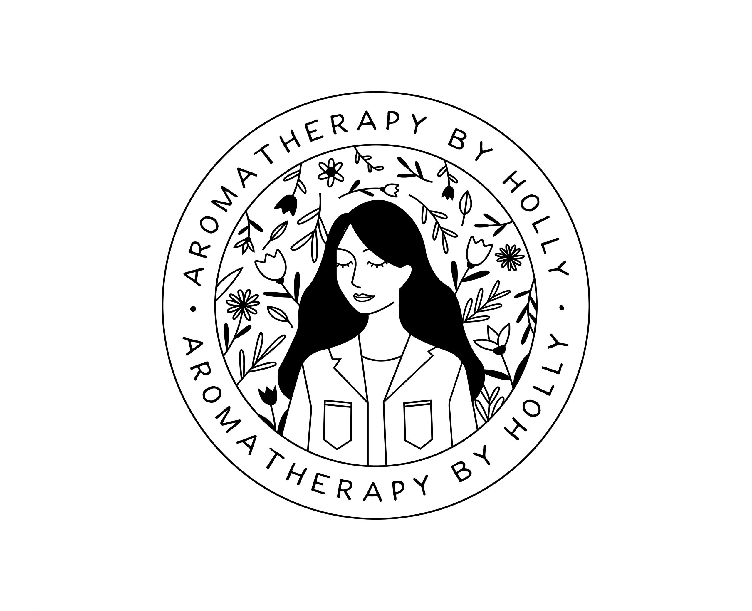 Aromatherapy by Holly Logo Badge Black PNG